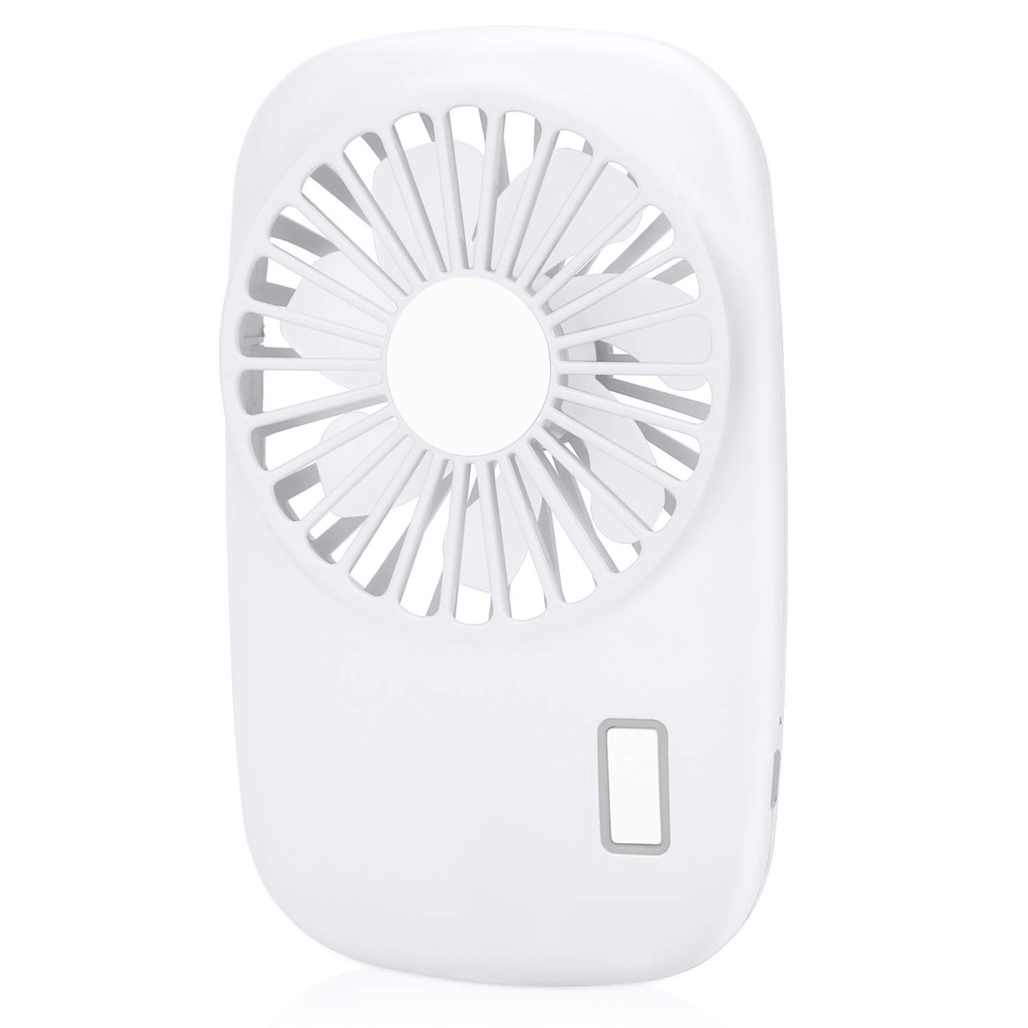 Handheld Mini Pocket Quiet Fan Speed Adjustable USB Rechargeable Personal Portable Fan for Camping Hiking or Reading White