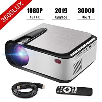 Proyector de vídeo Seeback 1080P Full HD Proyector LED 3600 ...