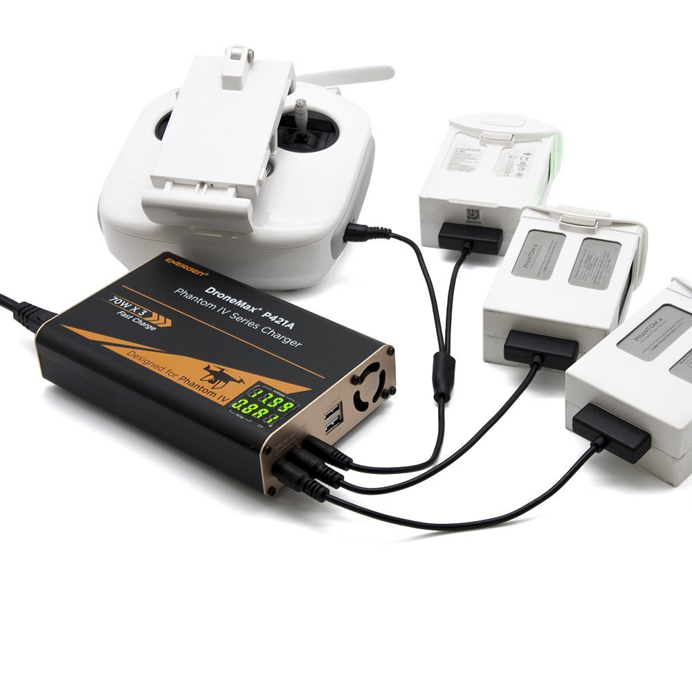 Energen DroneMax P421A AC Power Drone Battery Charger for DJI Phantom 4 (all models)