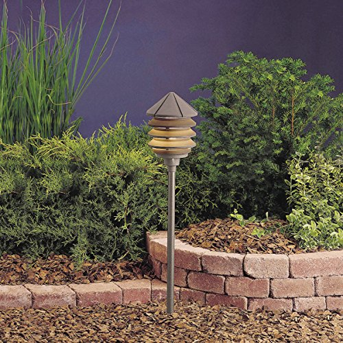 Light Path Mount Stem (Kichler 15205AZT Six Groove Path & Spread 1-Light 120V, Textured Architectural Bronze)