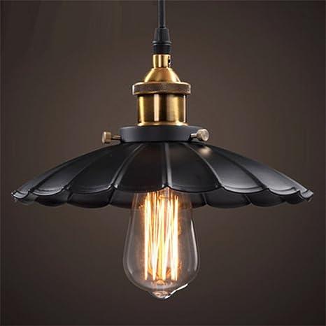 E27 industrial retro hierro paraguas forma candelabros restaurante café bar Hotel Loft sótano decoración hogar luz