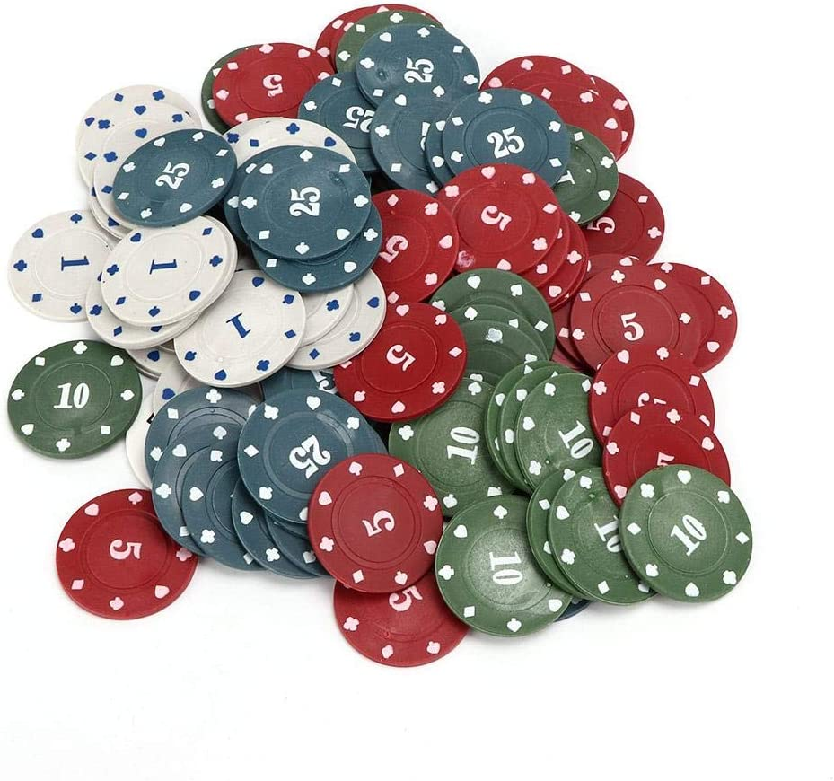 100pcs life Poker Chip Lv Box Poker Chips Professional Family Educational Digital Chips Poker Chips Set with Storage Box