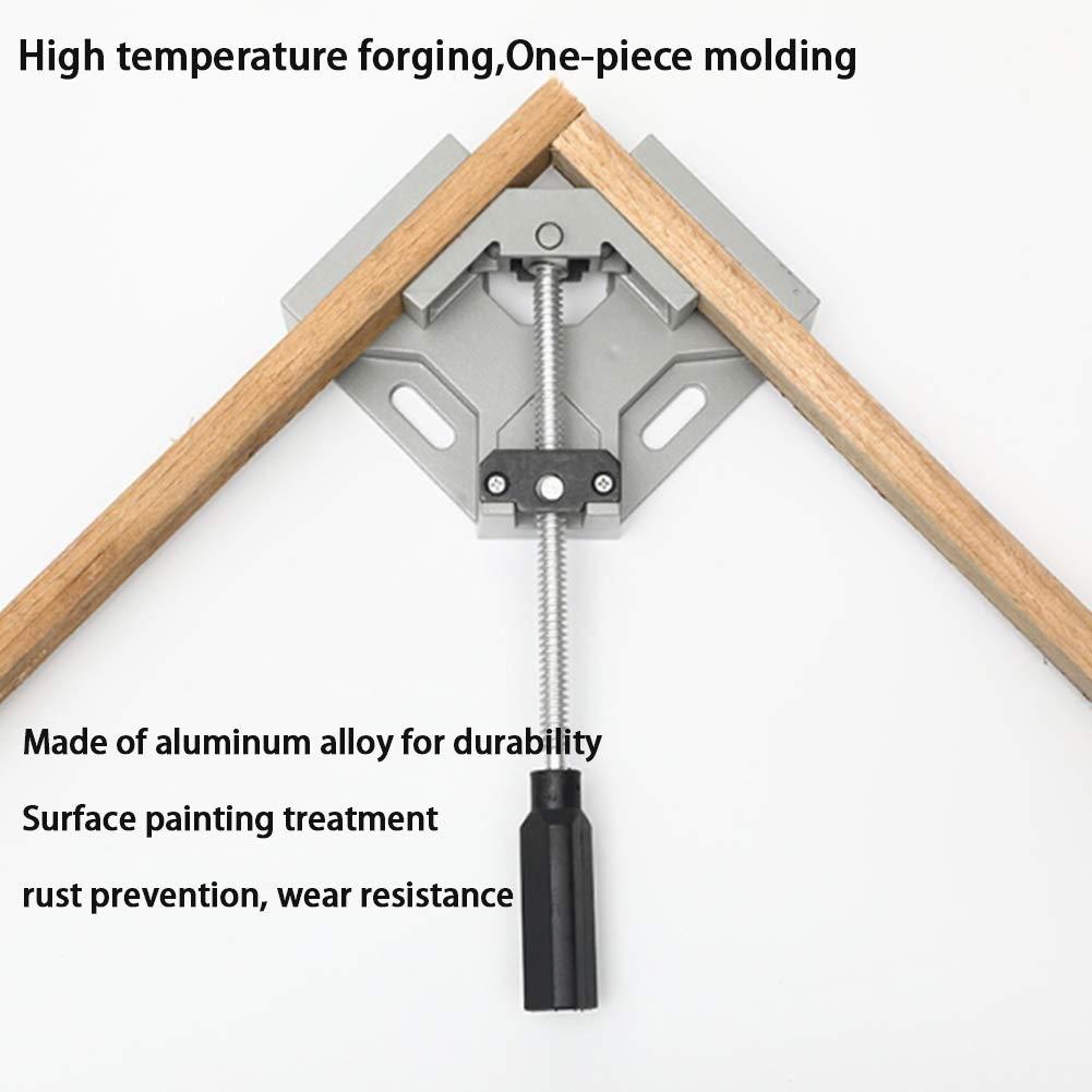 una sola manija Abrazadera de esquina de aleaci/ón de aluminio para carpintero Soldadura Trabajos de carpinter/ía Ingenier/ía de techos Marcos Brida de /ángulo recto de 90 /° Abrazadera de esquina