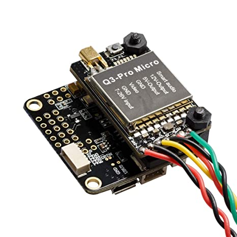Wolfwhoop Q3-Pro-Micro+F4 Betaflight Omnibus F4 Flight Controller  Integrated OSD and FPV Video Transmitter with Solder Pads and Smart Audio  Stackable