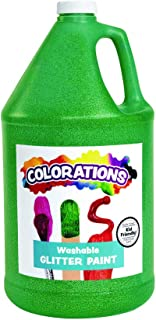 product image for Colorations Washable Glitter Paint, Gallon, Green, Non Toxic, Vibrant, Bold, Kids Paint, Craft, Hobby, Fun, Art Supplies, 1 Gallon