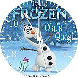 Borderless Frozen Olaf Frameless Wall Clock W472 Nice for Decor Or Gifts