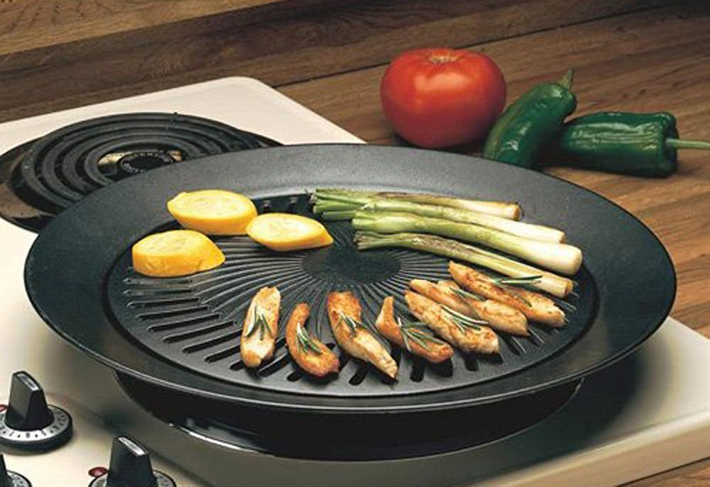 Smokeless Indoor Stove Top Grill - Healthy Kitchen Stovetop Indoor Grill by Imperial Home