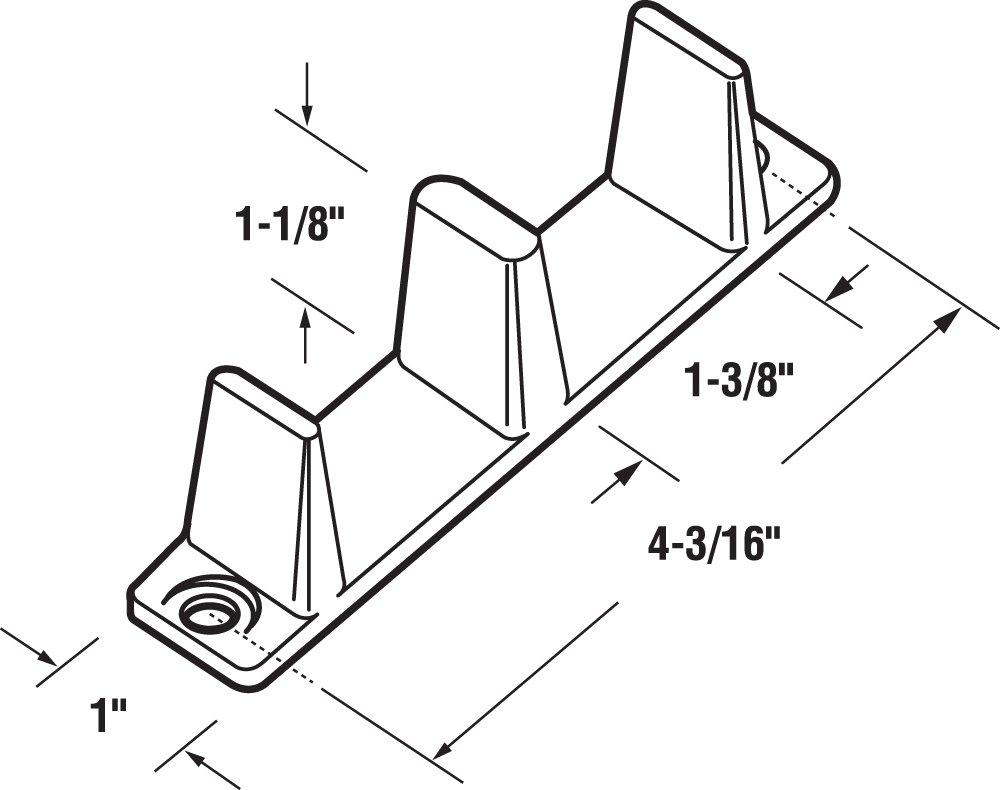 Sliding Closet Door Bottom Guide 4 316 In Plastic White Pack