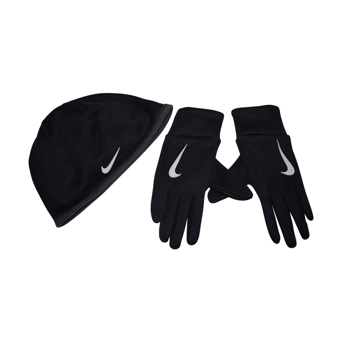 NIKE Therma Women's Hat and Glove Set for Running, Cold Weather (Black, XS/S)