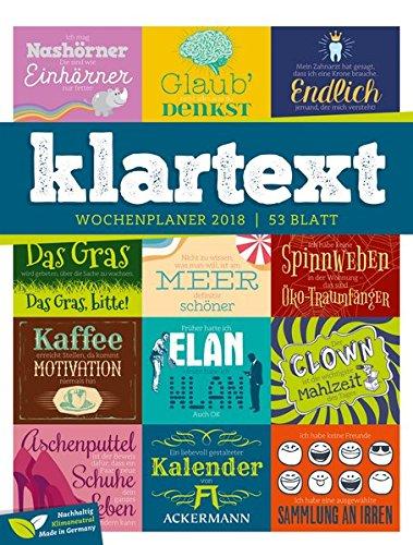 Klartext 2018 - Wochenplaner
