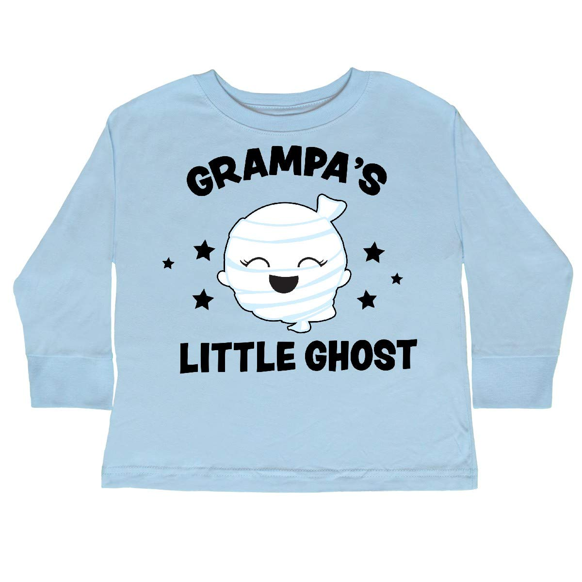inktastic Cute Grampas Little Ghost with Stars Toddler Long Sleeve T-Shirt