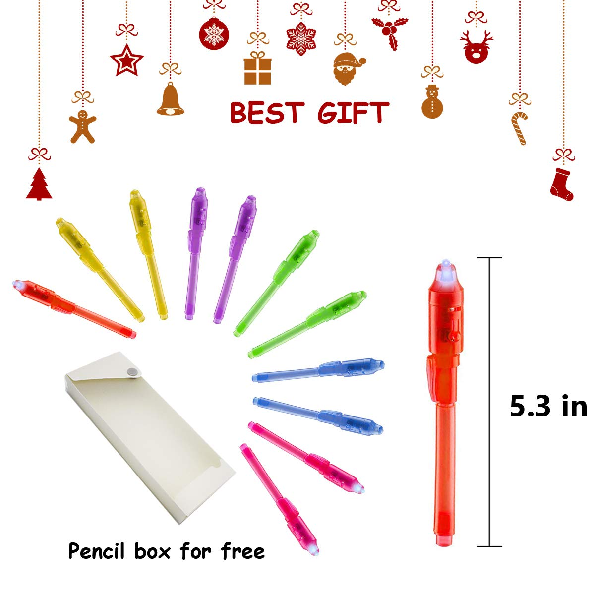 Joyjam Toys for 3-8 Year Old Boys Girls Invisible Ink Pen Spy Gear for Kids Magic Pen with UV Light Party Favors for Kids Christmas Novelty Gifts Stocking Stuffers (12 Pack) by Joyjam (Image #6)