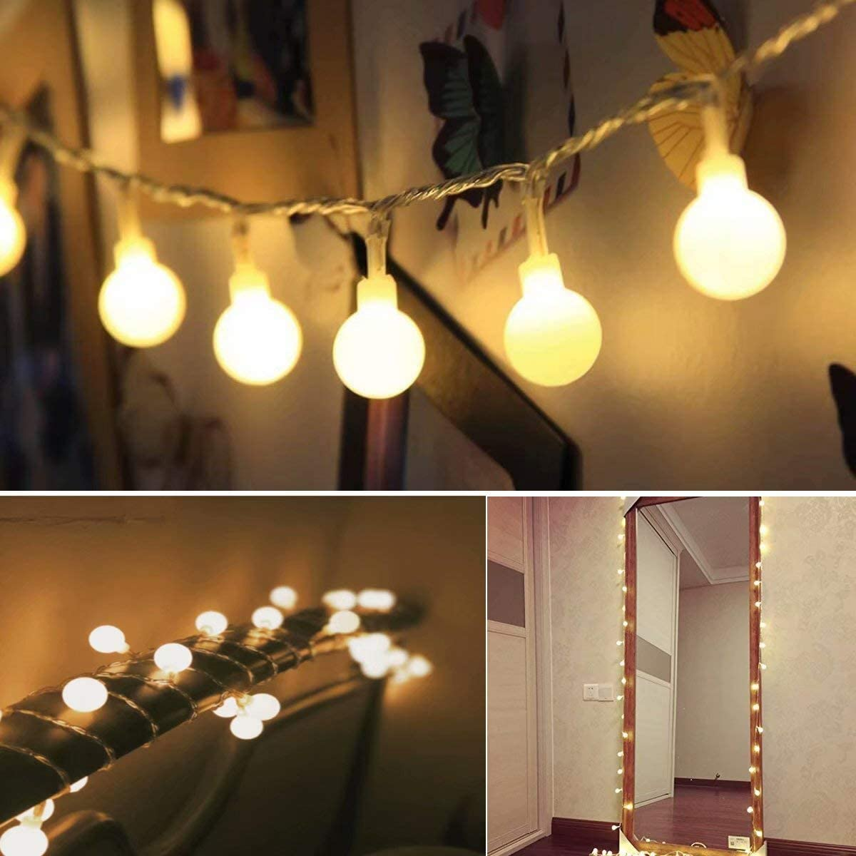 50 LED Cadena de Luces con Manda a Distancia, 8 Modos, Luces ...