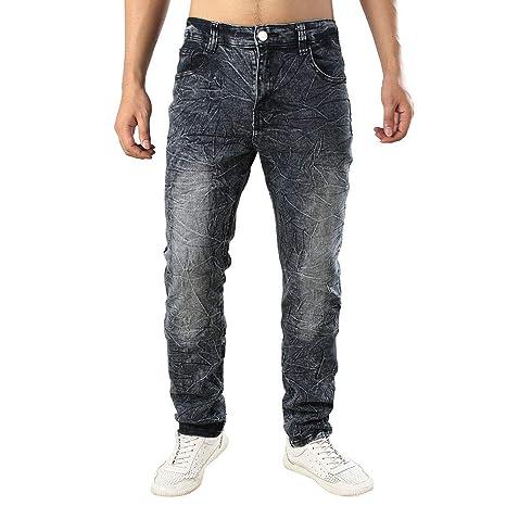 LuckyGirls Straight Series Hombre Pantalones Vaqueros Recto ...