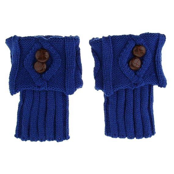 F Fityle 1 par de Botines Calzas Punto Ganchillo Mujer Toppers Diseño Lindo Llamativo Muchachas Mujeres - Azul, Única: Amazon.es: Ropa y accesorios