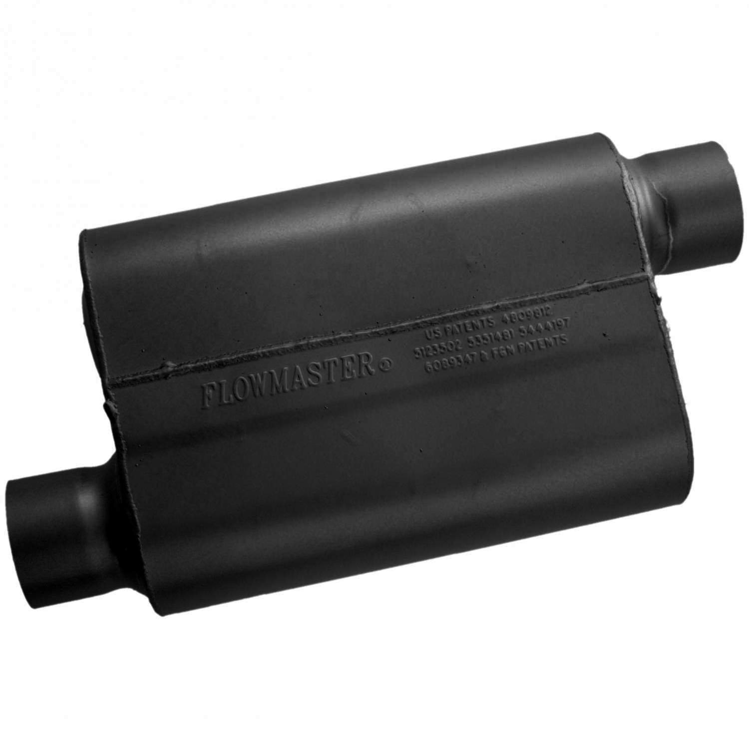 Aggressive Sound Flowmaster 43043 40 Series Muffler 3.00 Offset OUT 3.00 Offset IN