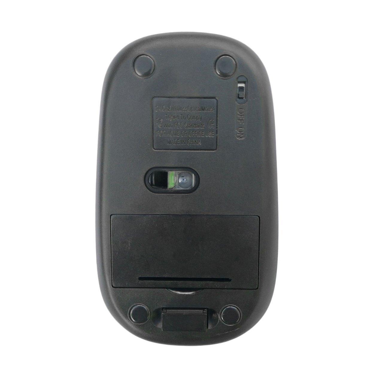 HONGIGI Dise/ño ergon/ómico C/ómodo 2.4GHz Ultra-Slim Mini 1600DPI USB Rat/ón /óptico inal/ámbrico Rat/ón de computadora para computadora port/átil PC JP-350 Color: JP-350 Silver