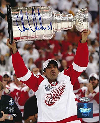 Chris Chelios Red Wings Stanley Cup Autographed Signed 8x10 Photo Autograph Auto ()