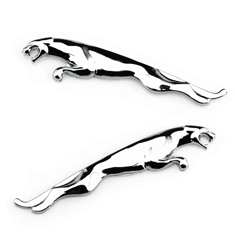 Amazon com 2pcs 3d auto car metal chrome emblem badge sticker decal for jaguar i pace xf xe f type xj xfl xel silver automotive