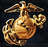 Marines 15'' Enlisted Gold Steel Logo Sign
