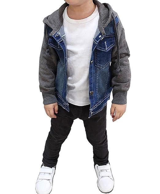 Amazon.com: yufan niños azul sudadera con capucha chamarra ...