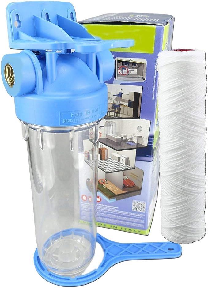 Filtro de agua de 25,4 cm, conector de latón de 1, 3/4, 1/2 ...
