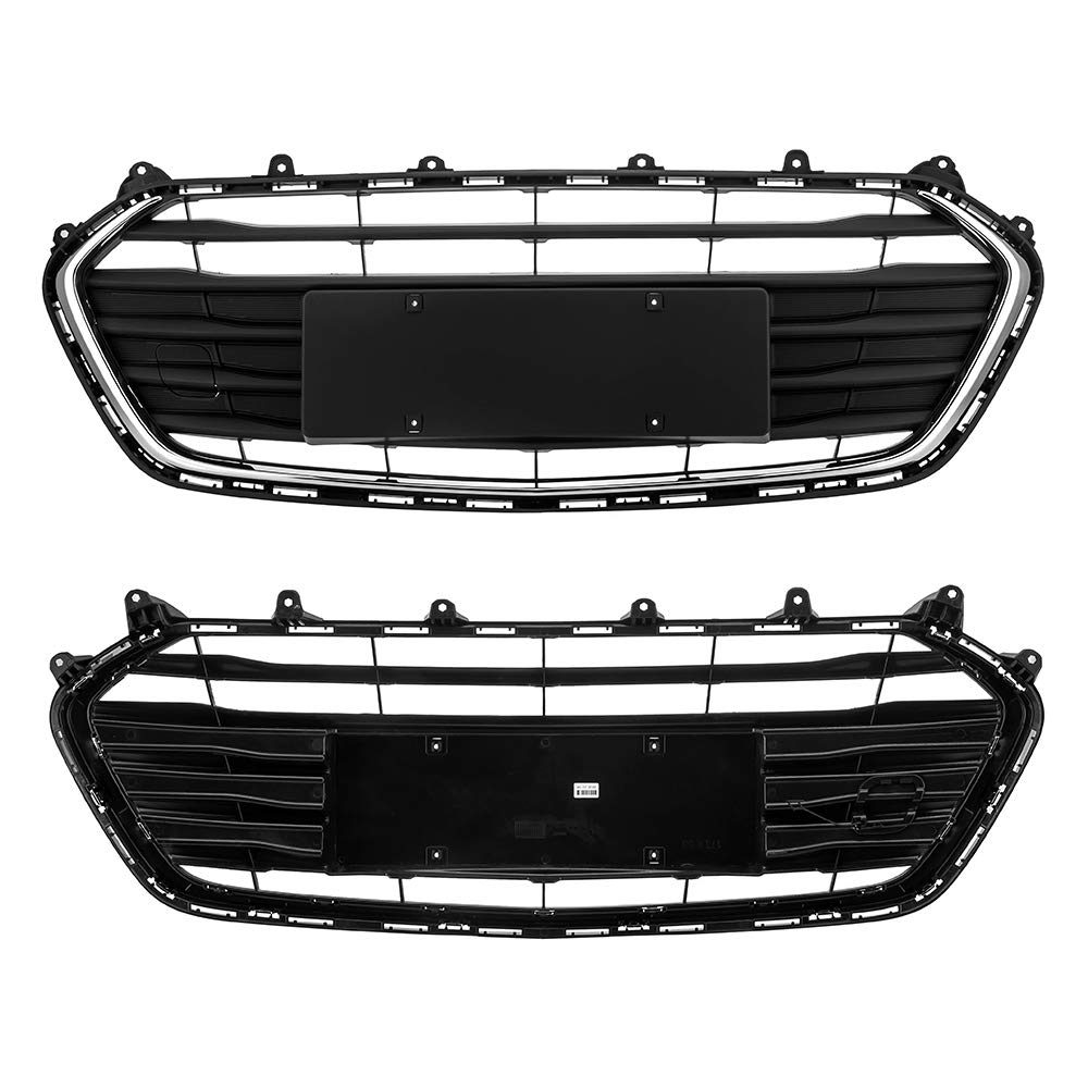 US Shipment Motorfansclub Front Radiator Grille For Chevrolet Trax 2017 2018 ABS Balck Chrome Trim