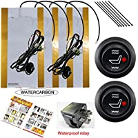 Water Carbon 12V Premium Heated Seat Kits for Two Seats Universal, Electronic Equipment, Dual Settings
