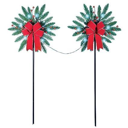 pine snowflake solar christmas path lights