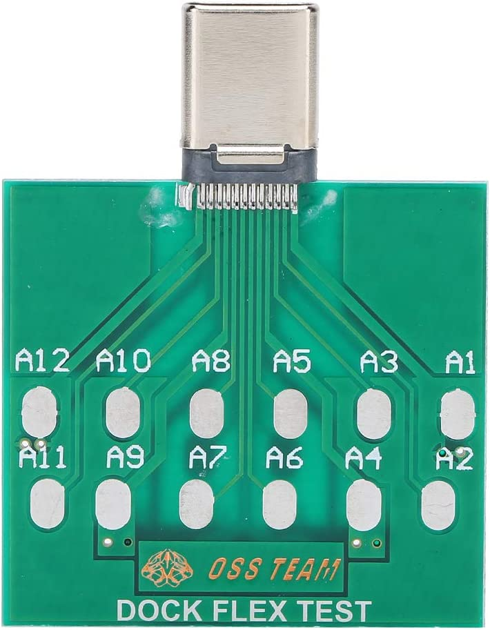 Type-c Interface Test Board Ginyia Battery Test Board High Performance Charging Port Testing Tool for Battery Maintenance and Test for Micro-Needle Test of Type-C Phone