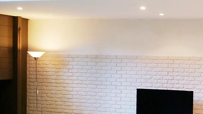 Decoresin Falso Panel Imitación Ladrillo en Poliestireno Expandido. Plancha Decorativa ideal para el refuerzo de Aislamiento Térmico para pared. ...