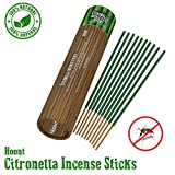 """Hoont Citronella Incense Sticks - Long Lasting 11"""" Natural Mosquito Repellent – Highly Concentrated Formula and Extremely Effective (Pack of 12)"""