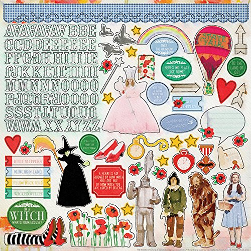 Paper House Productions STCX-1016E 12'' Cardstock Stickers, Wizard of Oz (6-Pack) - 12' Die Cut Cardstock