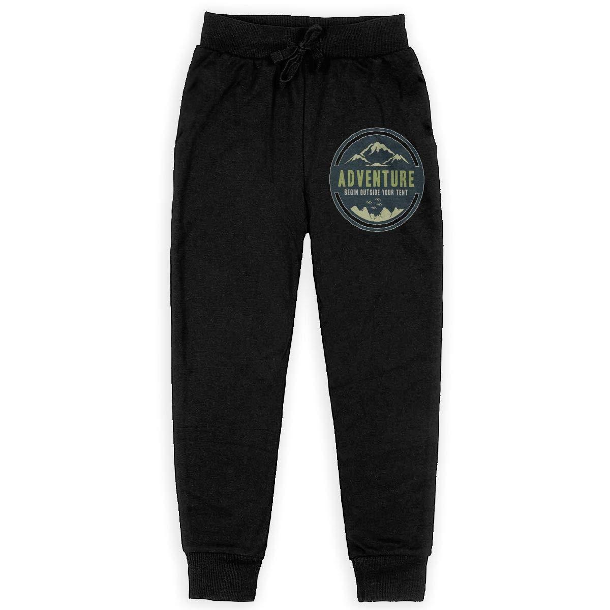 Kim Mittelstaedt Begin Outside Boys Big Active Basic Casual Pants Sweatpants for Boys Black