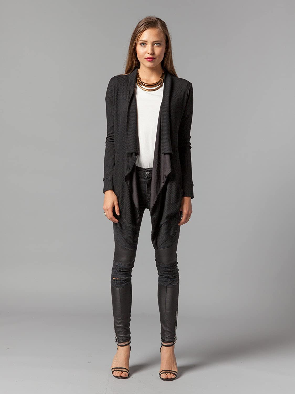 Lovers + Friends Women's Black Ellis Knit Cardigan