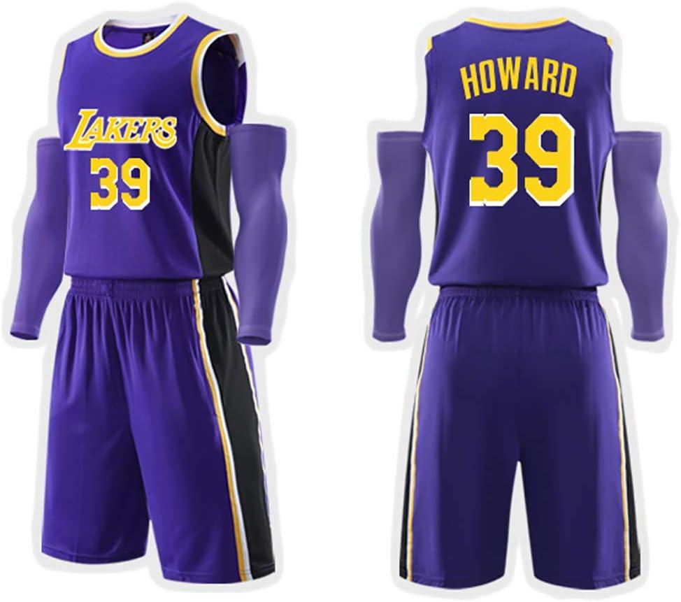 pour Les Maillots de Basket-Ball Lakers Lebron James Kobe Bryant Anthony Davis Dwight Howard Shorts de Gilet Enfants Adultes Uniformes dentra/înement de comp/étition de Performance