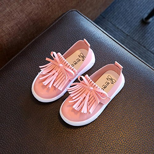 Little Girls Princess Shoes, Inkach Fashion Fringe Single Shoes Summer Girls Tassel Sandals Pink