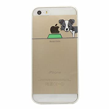 Keyihan iPhone 5 / 5S / SE Funda Carcasa Perro Lindo patrón Suave TPU Silicona Transparente Ultra Delgada y Ligéra Parachoques para Apple iPhone 5 e ...