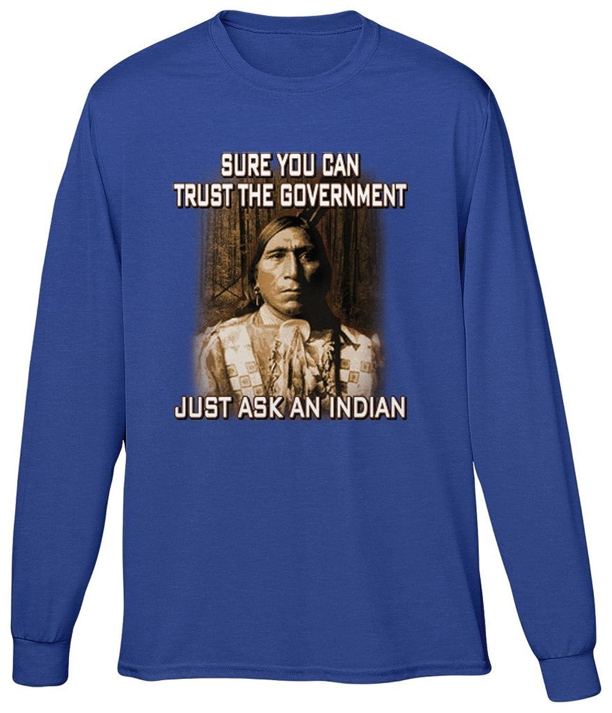 Blittzen Mens Long Sleeve T-shirt Just Ask An Indian