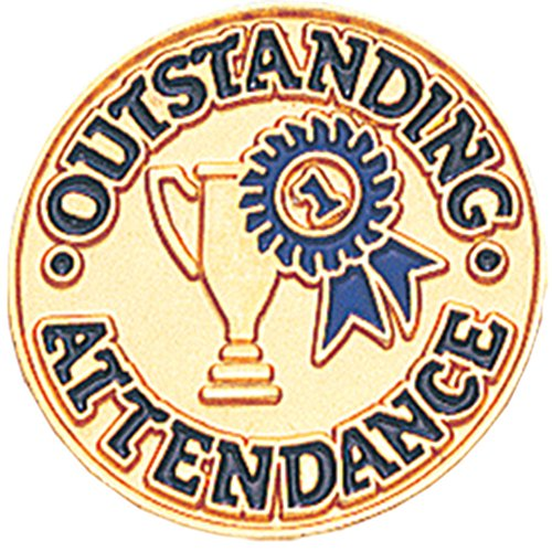 Outstanding Attendance Lapel Pin Outstanding Awards