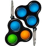 AJAYR Bubble Sensory Fidget Toy Keychain Simple Dimple Fidget Toy Mini Pop Its