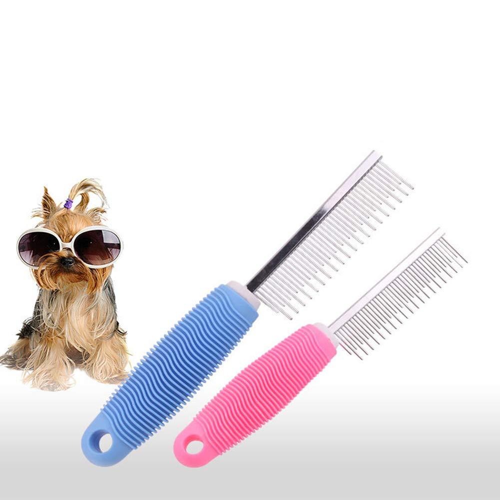 Carmel Pet kamm schö nheit reinigungsmittel hundekamm Edelstahl Reihe kamm Hund haarentfernung ö ffnen Lange kamm haarbü rste (Zwei stü ck)