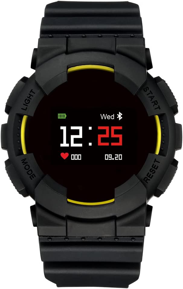 Hangang MX Smart Watch Fitness Tracker Tensiómetro de Pulso Reloj Smart Relojes Bluetooth Agua Densidad Outdoor Reloj Activity Tracker Sport Watch Pulsera para Android iOS Smartphone