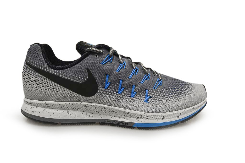 Nike Air Zoom Pegasus 33 Shield Mens Running Trainers 849564 Sneakers Shoes B000G41IU6 8 D(M) US|Cool Grey Black Wolf Grey Blue 002