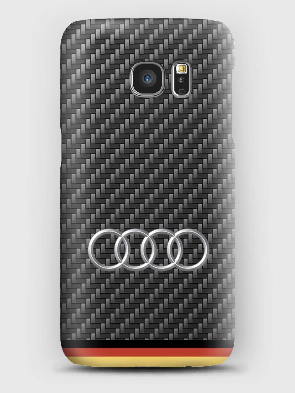 Carbon Audi Cover Samsung S6, S7, S8, S9, A3, A5, A7, J3, J5, Note 5,8,9