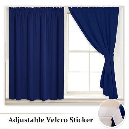 RYB HOME Portable Blackout Window Shutters Interior Décor Room Darkening  Velcro Cost Saving Curtain Shade Drapes
