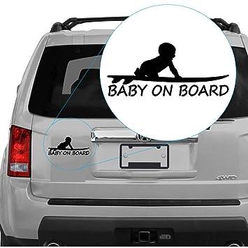 """Adhesivo para tabla de surf con texto en inglés """"Baby on Board""""15"""