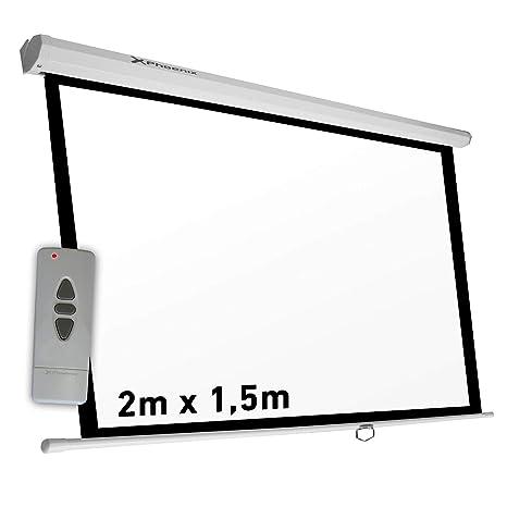 Phoenix PHPANTAELEC200/150 Pantalla de proyección eléctrica de techo y pared, Formato 4:3, 2 x 1.5 m