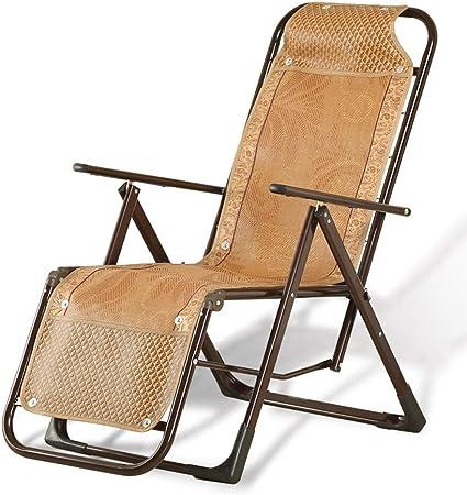 Sillón Plegable de Gravedad Cero Sillón reclinable con balcón Jardín al Aire Libre en la Playa Patio Silla Plegable (Color : Sample-1): Amazon.es: Hogar