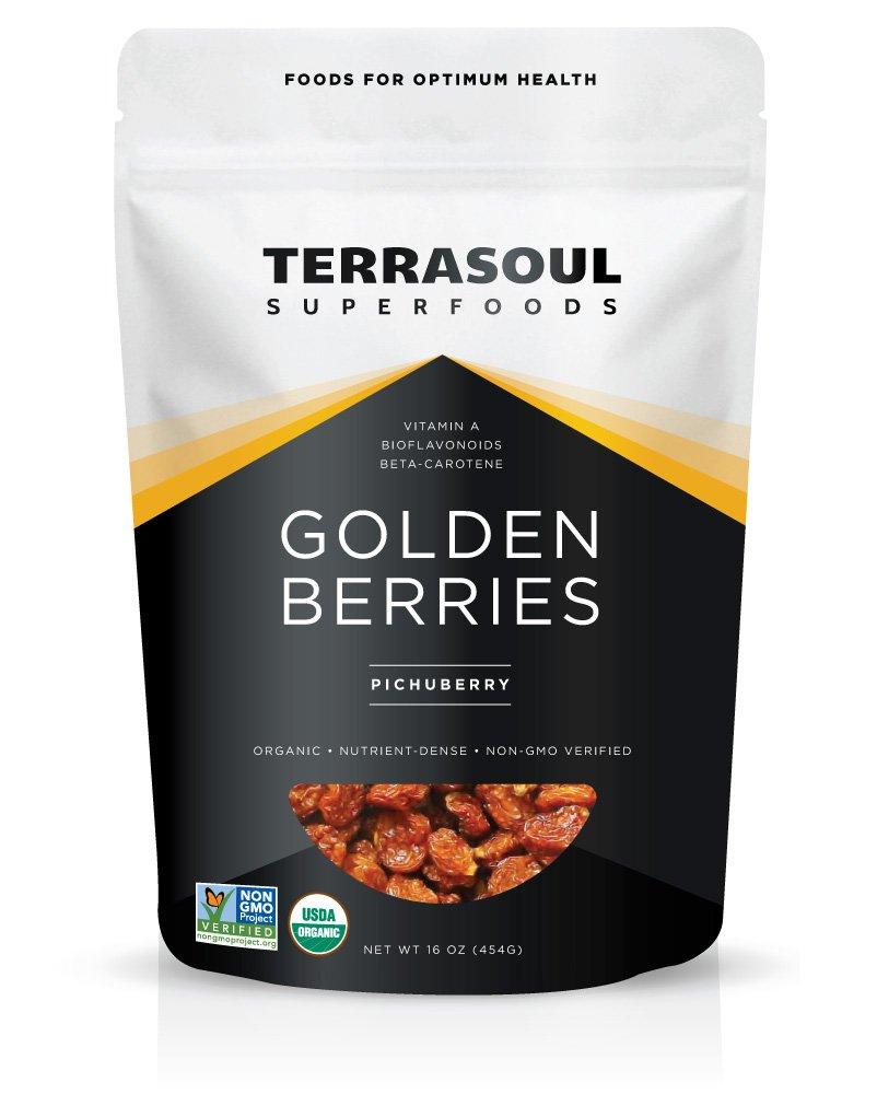 Terrasoul Superfoods Organic Golden Berries, 16 ounces
